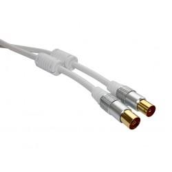 Antennekabel Lux-Line 1M Hvid