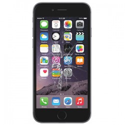 iPhone 6S Glas reparation Sort, OEM