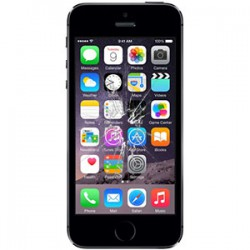 iPhone 5S Glas reparation Sort, OEM