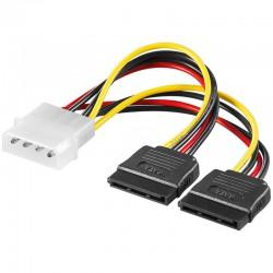 Goobay SATA Power Adapter 4Pin - 2x15Pin