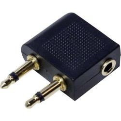 Logilink airport adapter, 2x3,5mm - 1x