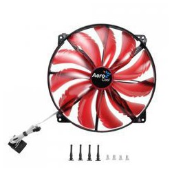 AeroCool Silent Master 200mm Red Led Fan
