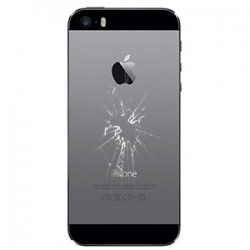 iPhone 5S Bagcover Reparation Sølv OEM
