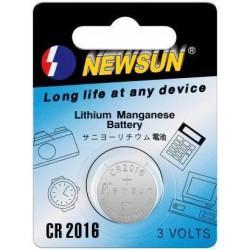 Newsun CR2016 knapcellebatteri