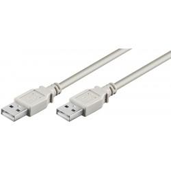 USB 2.0 A/A Han/Han 3,0meter