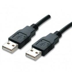 USB 2,0 Cable Han/Han sort 1,8M