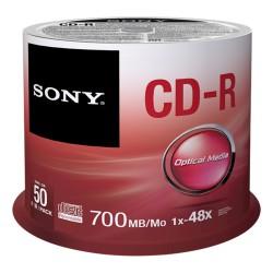 Sony CD-R 700MB 1x-48x, 50 stk. Spindel