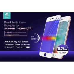 Devia Tempered Glass 3D iPhone 7/8 Hvid