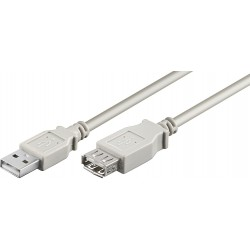 MicroConnect USB2.0 Extension A-A 1m