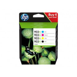 HP 903XL Sort Gul Cyan Magenta 825 sider