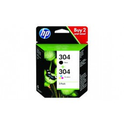 HP 304 2-Pack Black/Tri-color Original I