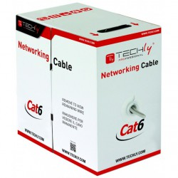 Techly Cat6 kabel 100 Meter Grå