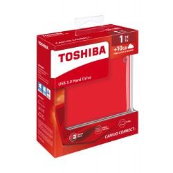 """Toshiba 500GB 2.5"""" USB 3.0 Rød"""