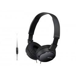 Sony MDR ZX110 Headset, sort, on ear