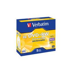 Verbatim DVD+RW 4X, 4,7GB Branded