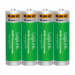 LogiLink AA Ni-MH rechargeable 4 stk.