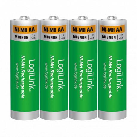 LogiLink AA Ni-MH rechargeable 4 stk.