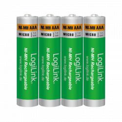 LogiLink 4 Genopladelige AAA Batterier