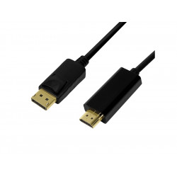 LogiLink Displayport til HDMI Sort 2M