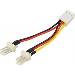 Deltaco 3-pins Blæser Adapterkabel