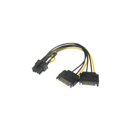 akasa SATA Power til PCIe Adapterkabel