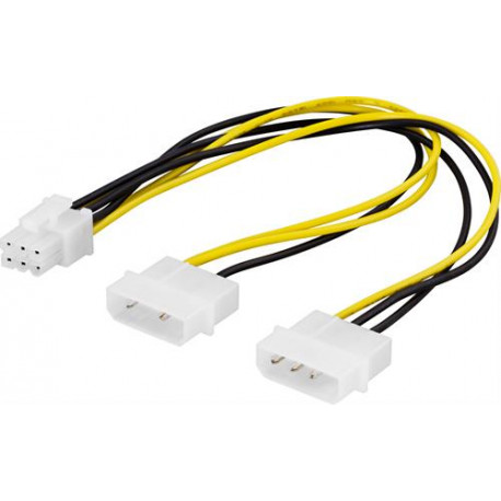 Deltaco PCI-express adapterkabel 25cm