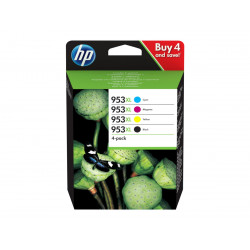 HP 953XL Sort Gul Cyan Magenta