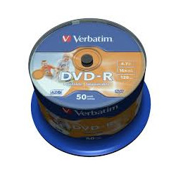 Verbatim DVD-R 4.7GB 50 stk printable
