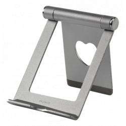 Deltaco Smartphone- & Tabletholder Sølv