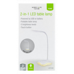 Nordic Home Culture 2-in-1 LED Lampe