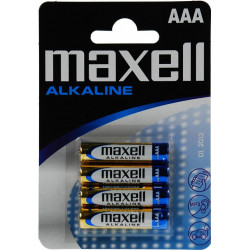Maxell Alkaline 4stk AAA/LR03 Batterier