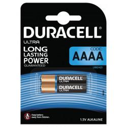 Duracell 2stk AAAA Batterier 1,5V