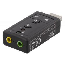 Deltaco USB Lydkort til Headset & Mik.
