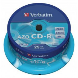 Verbatim 25x CD-R 700MB, 52x speed spind