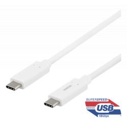 Deltaco USB-C Kabel 1 Meter USB3.1 Gen2