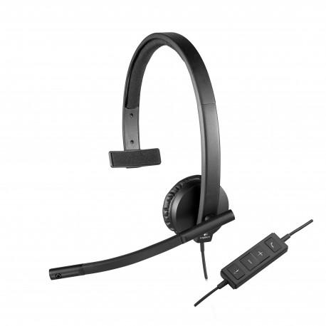 Logitech USB Headset H570e Kabling Heads