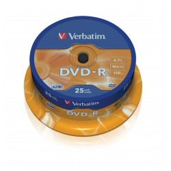 Verbatim DVD-R 16x 4,7GB spindle (25)