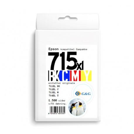 G&G Epson T0715 kompatibel Sampak