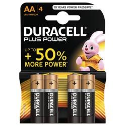 Duracell Plus Power AA Batterier 4pk
