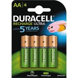 Duracell Recharge 2500 AAbatterier 4pk