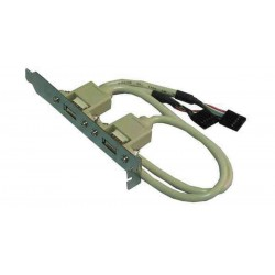 USBx2 bagpanel m/kabel til mb