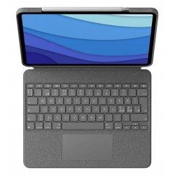 "Logitech Combo Touch Ipad Pro 12,9"" Grå"