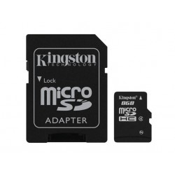 Kingston 8GB Micro SD HC Class 4 incl ad