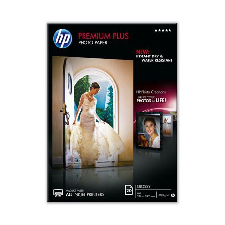 HP Premium Plus Glossy Photo Paper-20 sh