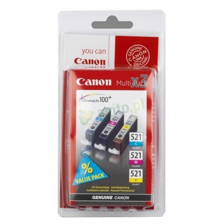 Canon CLI-521 multipack CMY