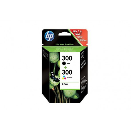 HP 300ink combo pack, black tricolor
