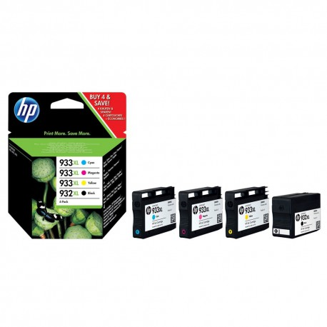 HP 932 933 XL Cyan Magenta Yellow Black