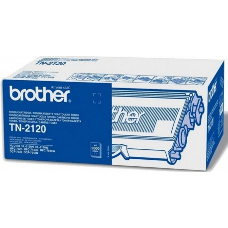 Brother TN-2120 sort toner, 2600sider