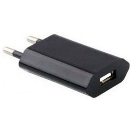 USB Oplader, Sort, 1A