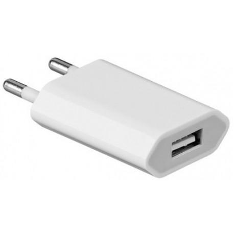 USB Oplader, 1A, Hvid